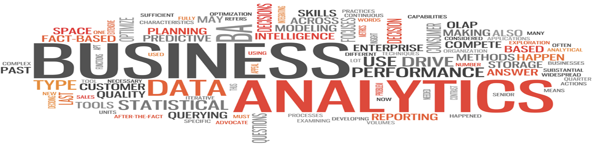 Business Analytics Word Cloud 1900X460
